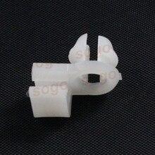 Sogo White Nylon Door Lock Rod Fastener Retainer Clips Car styling