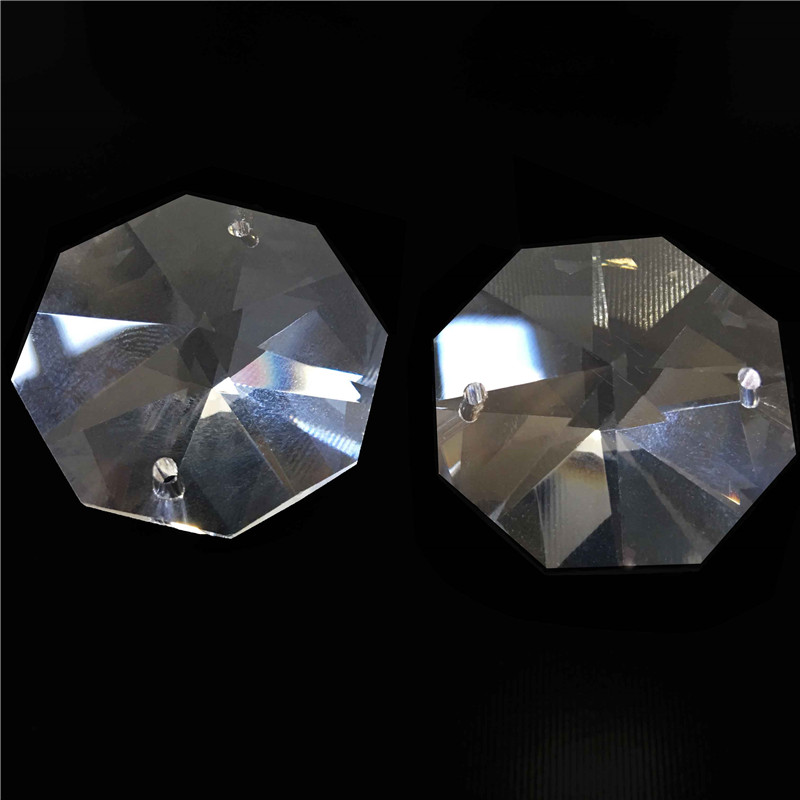 10000pcs Lot 14mm Crystal Octagon Beads With 2 Holes Transparent Color Free Shipping
