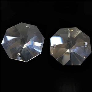 Image 1 - 10000 قطعة/الوحدة 14 مللي متر كريستال الخرز المثمن مع 2 ثقوب شفافة اللون شحن مجاني