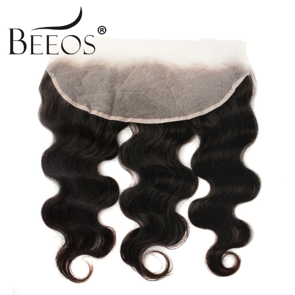Beeos 13 4 Human Hair Lace Frontal Closure Transparent Swiss Lace Body Wave Lace Frontal with