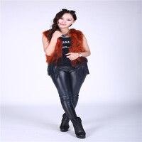 Новые Модные осенние и зимние Меховой жилет косу волосы короткая заметка жилет с бахромой женский жилет