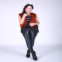 New fashion autumn and winter fur vest braid hair short paragraph vest fringed female waistcoat