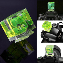camera hotshoe Transparent three-dimensional horizontal bead Level Three of three dimensional cube beads