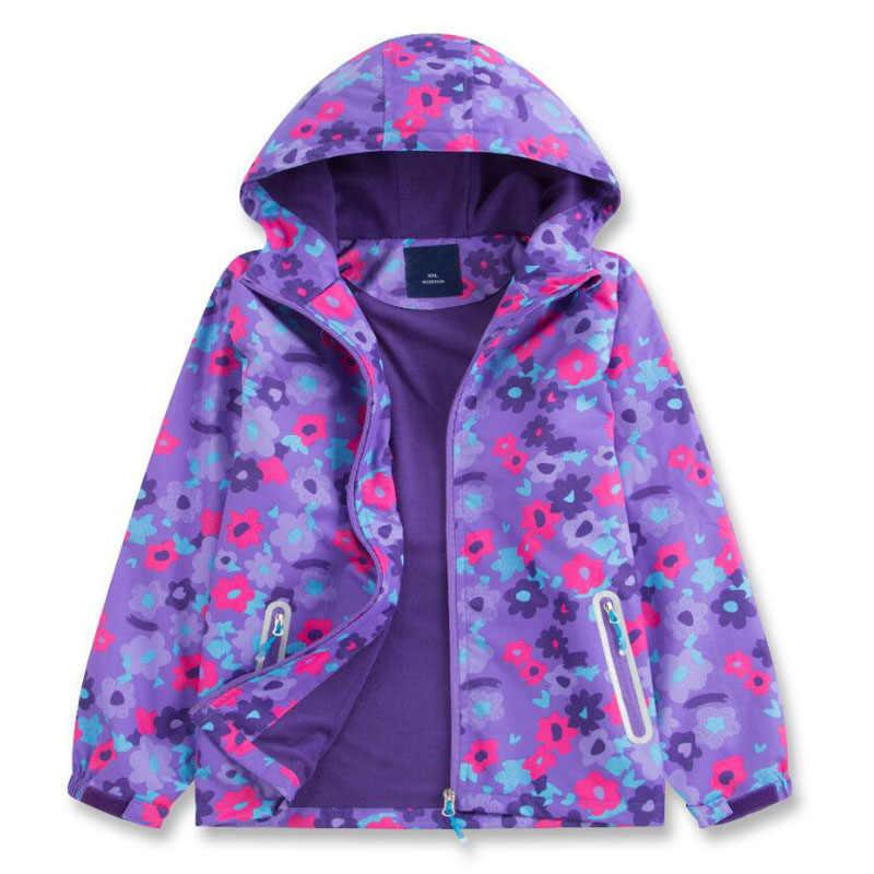 בנות צבע מעילי פעוט סתיו מעיל עמיד למים חיצוני בגדי ילדים ספורט מזדמן ברדס מעיל צמר חם הלבשה עליונה