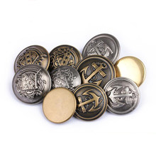 Retro bronze buttons silver bronze anchor buttons plastic decorative buttons 18mm&21mm&25mm 100 pcs/lot(China)