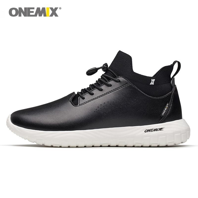 Onemix men s athletic Shoes microfiber leather women running shoes unisex 3 in 1 set Jogging