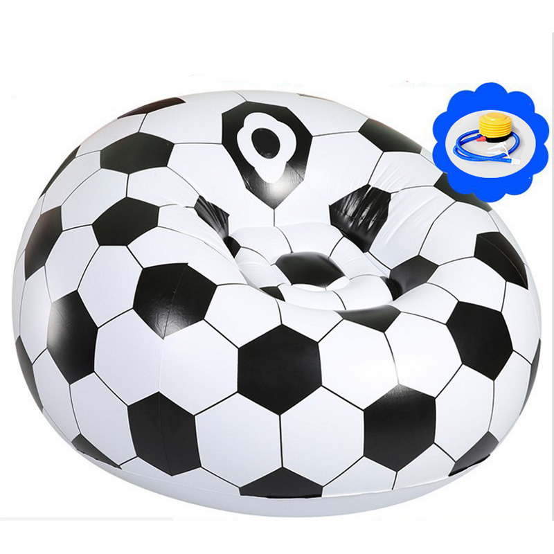 Fashion Outdoor Flocking PVC inflatable lazy football / basketball sofa small household single sofa bed with a  foot pump ao058m 2m hot selling inflatable advertising helium balloon ball pvc helium balioon inflatable sphere sky balloon for sale