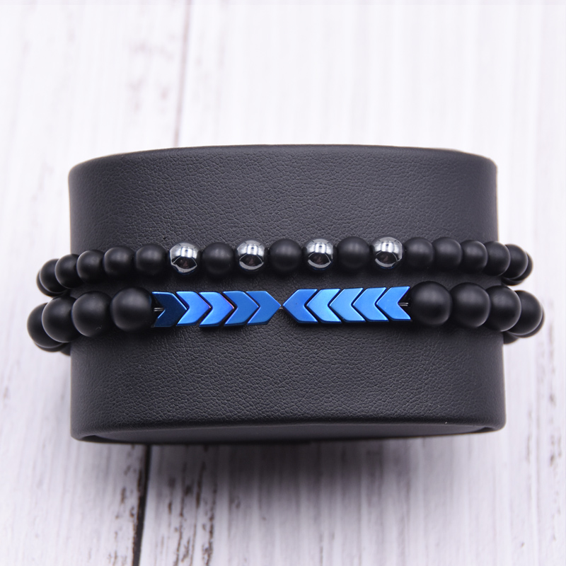 Sw or hematite crystal adjustable cross bracelet or anklet strung on nano cord w glass stainless steel