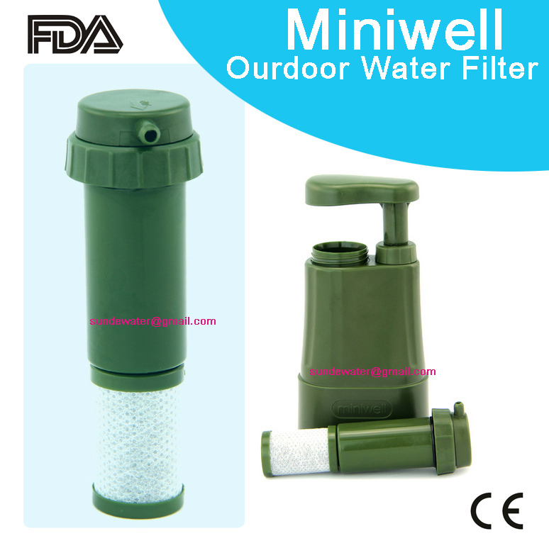 Miniwell outdoor water filter mini portable water for Garden water filter