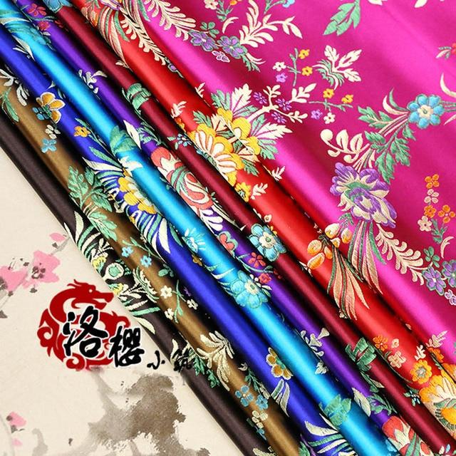 Woven damask advanced costume cheongsam silk cloth clothes jacquard brocade fabric silk