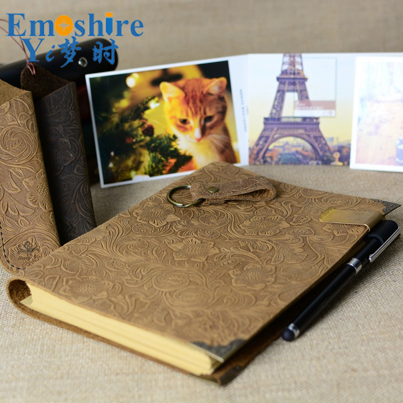 25.6*18.6CM Large Loose-leaf Leather Business Retro Notepad First layer Leather Notebook Custom Leather Notepad N119 first layer leather travel notepad retro leather notebook loose leaf diary with lock customized logo business gifts n131
