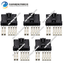 5 Sets 6 pin black rectangular connector with terminal DJ7061-1.5 2.8-21 6P Automotive Connectors