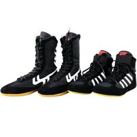 Authentic Wrestling Shoes Boxing Shoes For Men Training Fighting Tendo Leather Sneakers Gym Professional Boots Gear