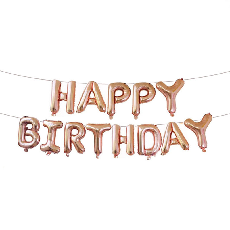 16 inch rose gold letter balloon BRIDE TO BE I Love You Happy birthday aluminum balloon set