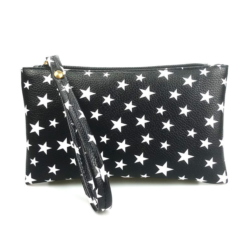 2018 New Fashion Black Small Long Coin Purse Organizer Wristlet Hand Bag Girls Pu Leather Girls Handbag Wallet for Women and Men