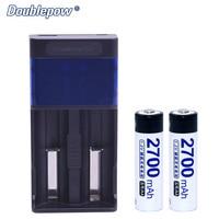2 Slots Doublepow DP UK85 USB LCD Indicator Intelligent Fast Charger 2pcs 1 2V AA Ni