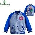 Капитан Америка Куртка для Мальчиков Девочек Зима Осень Человек-Паук Куртка Детская Бейсбольная Куртка Дети Спорт Пальто Одежды Ребенка