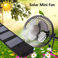2019 Drop Shpping Foldable 7W 6.5V Cell Solar Panel +Fan Multifunctional Universal Outdoor Battery Charger Ventilator