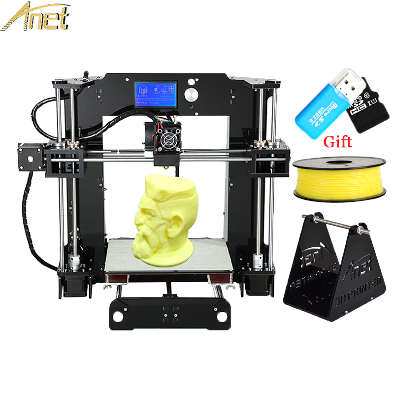 Printer 3D Anet A6 impressora 3d-printer DIY Full Acrylic Frame Machine Industrial Extruder Reprap 3D Printer Kit free filament 2017 newest tevo tarantula 3d printer impresora 3d diy impressora 3d with filament micro sd card titan extruder i3 3d printer