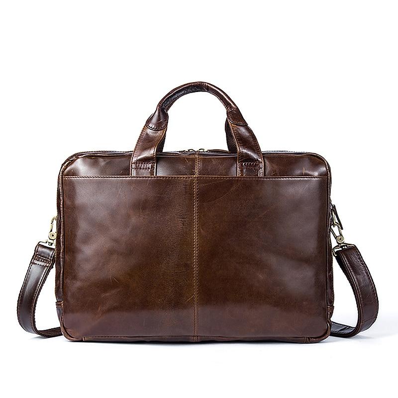 WESTAL męska teczki prawdziwa skóra dla mężczyzn torby Messenger torby męskie torba skórzana torba na laptopa torba dla mężczyzn komputera/torby na dokumenty 9207 w Teczki od Bagaże i torby na  Grupa 3