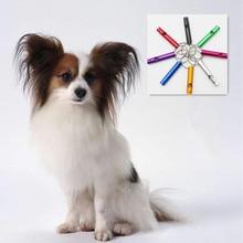 Dog Whistle Keychain Pet Training Adjustable Ultrasonic Flute Dog Whistle Sound Keychain pet dog whistle training obedience sound silver