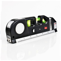 Free Shipping New Multipurpose Level Laser Horizon Vertical Measure Bubbles Laser Ruler Tape 8FT Aligner