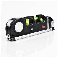 Free Shipping New Multipurpose Level Laser Horizon Vertical Measure Bubbles Laser Ruler Tape 8FT Aligner