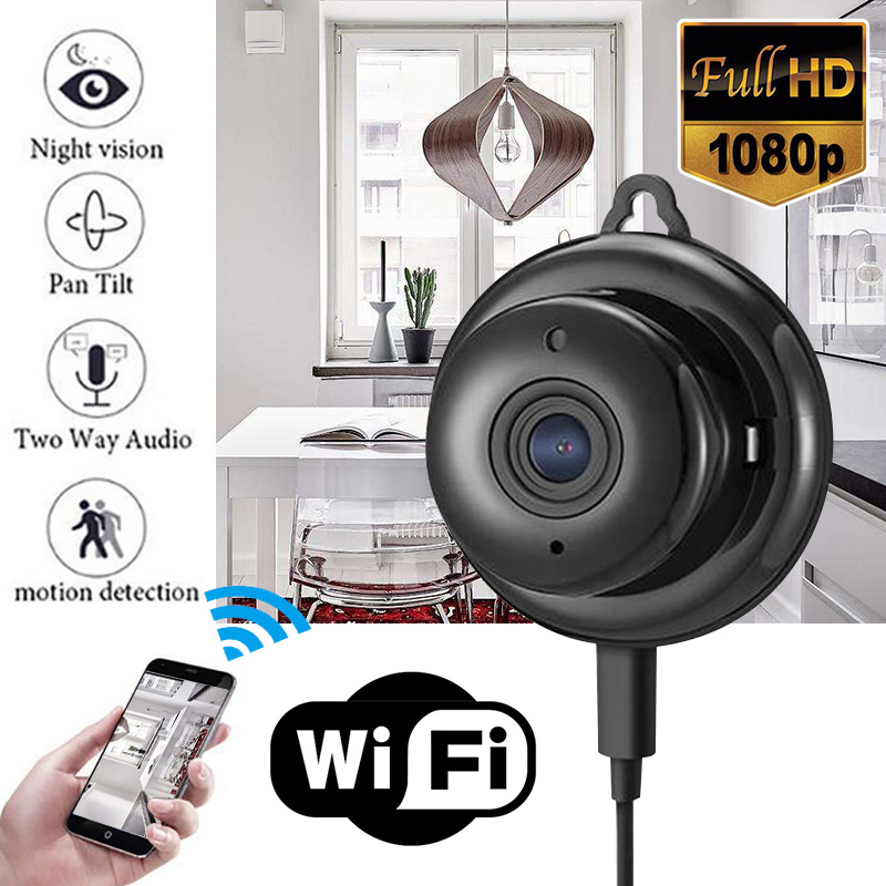 Mayitr 1pc Full HD 1080P Mini Wireless WIFI IP Camera Night Vision Mini Camcorders Kits for Home Security CCTV