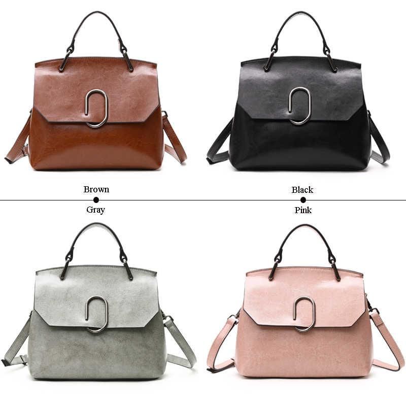 ESUFEIR ブランド本革の女性のバッグ本物の牛革ハンドバッグ有名なデザインクロスボディバッグカジュアルトートトップバッグ