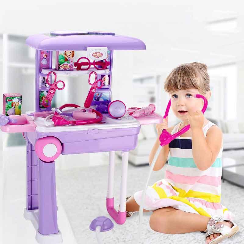 Disney fille jouets enfants cadeau sophia princesse maison de jeu pour enfants Simulation médecin infirmière médicale jouet valise jouets pour fille