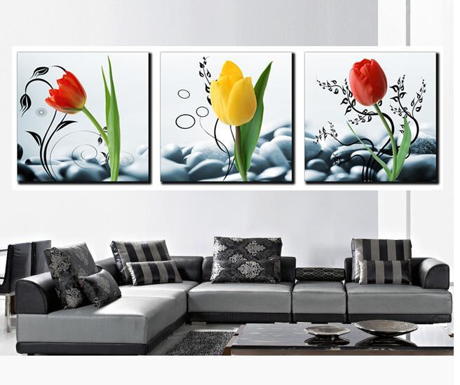 Aliexpress Com Buy 3 Piece Canvas Art Home Decoration: Aliexpress.com : Buy Hot Sell 3 Piece Morden Stone Flowers