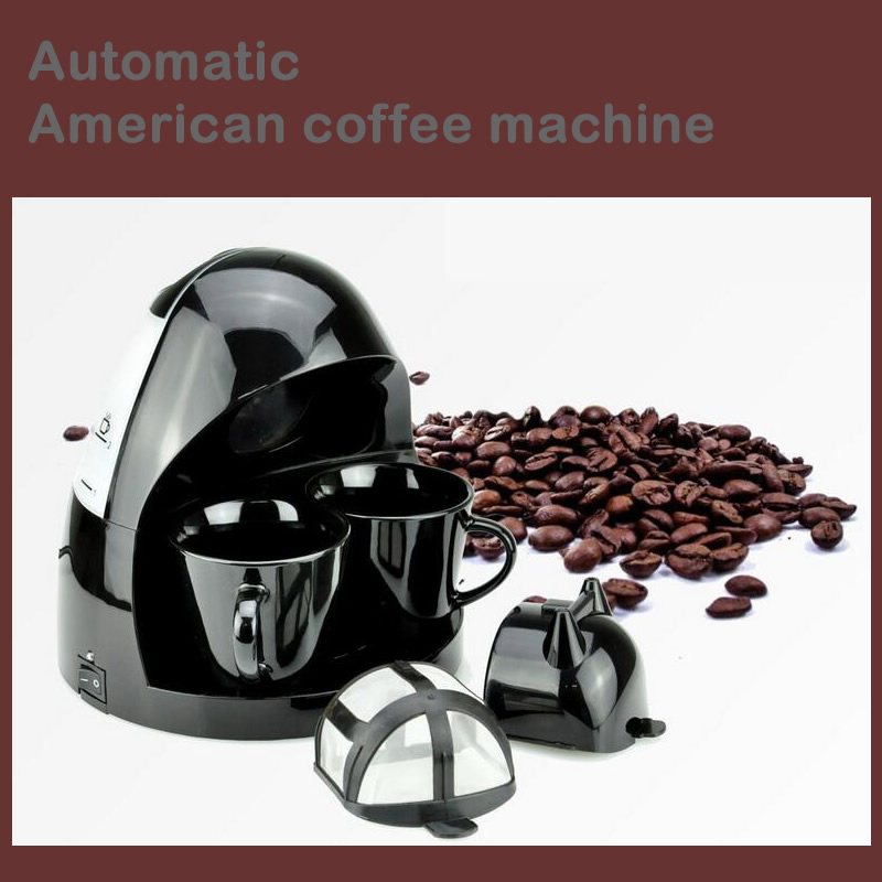 Fully Automatic Lovers Coffee Machine 220V 2 Cups Drip Coffee Maker American Coffe Machines