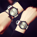 New Fashion FEIFAN Black White Causal Leather Wristwatch Watch Gift  for Women Men Couple Student OP001