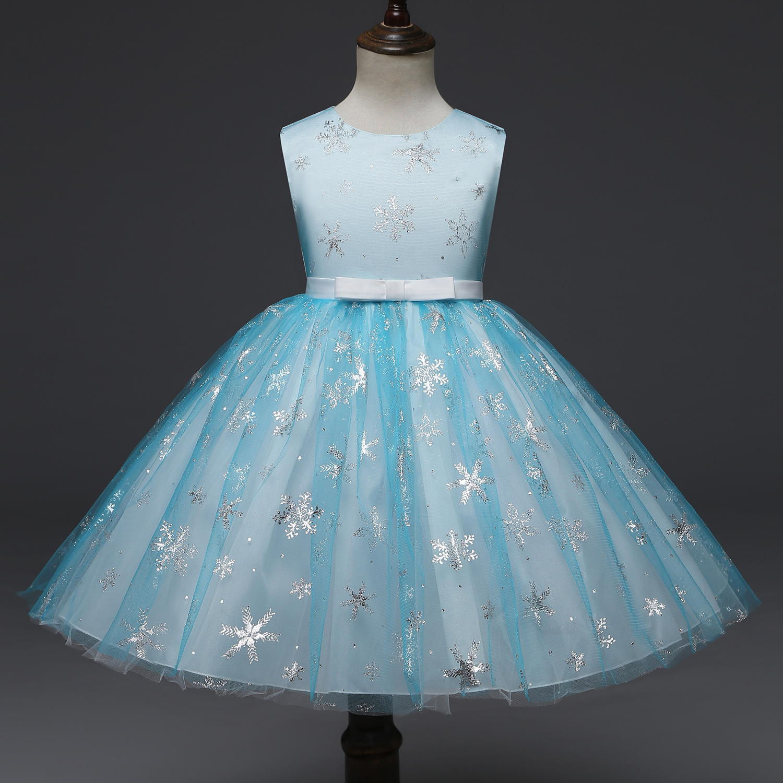 b6683f04992c Baby Girls Princess Party Dresses Star Sequin Sleeveless Dress ...