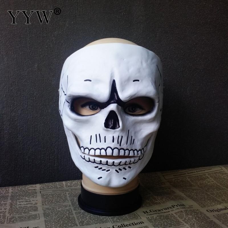 White Skull Mask Halloween Scary Horror Skull Full Face Masks Ghost Use In Mascara Halloween Cosplay Terror Masque Easter Decor