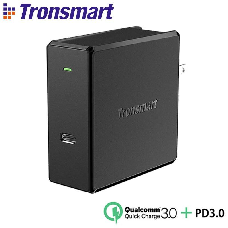 Tronsmart WCP02 60 W Type C Chargeur Mural Puissance Livraison 3.0 chargeur rapide charge rapide 3.0 Téléphone Chargeur MacBook chargeur pour ordinateur portable