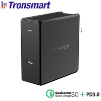 Tronsmart WCP02 60W Type C Wall Charger Power Levering 3.0 Fast Charger Quick Charge 3.0 Telefoon Oplader Macbook Laptop lader-in Opladers voor mobiele telefoons van Mobiele telefoons & telecommunicatie op