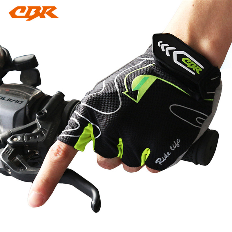 CBR Cycling Half Finger Cycling Gloves Nylon Mountain Bikes Gloves Breathable Sport Guantes Ciclismo Bike Bicycle Cycling Gloves i kua fly mtb cycling gloves half finger bike gloves shockproof breathable mountain sports bicycle gloves men guantes ciclismo 4