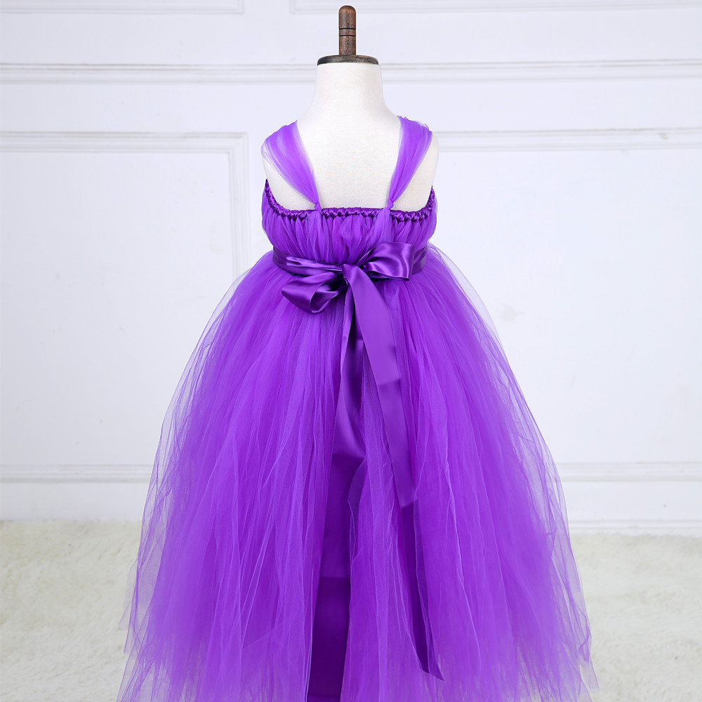 gorgeous Purple Prom Party Dress For Little Girls Fluffy Purple Tutu ...