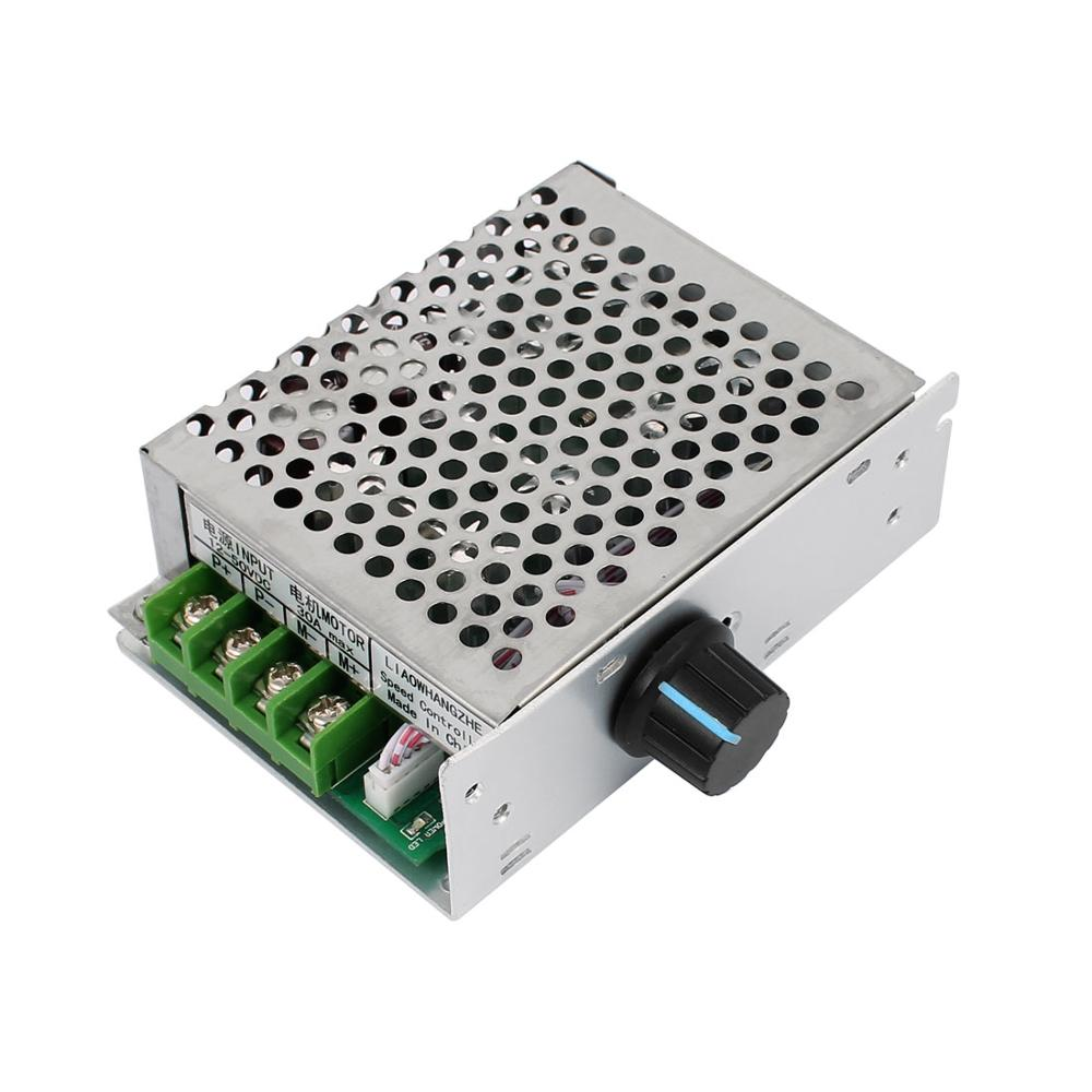 цена 12-50V 30A 1500W Adjustable PWM DC Brush Motor Speed Controller Regulator Switch