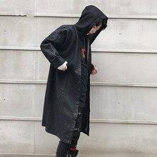 Male Casual Cloak Cardigan Cowboy Trench Coat Men Streetwear