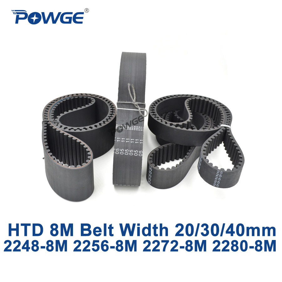 POWGE HTD 8M synchronous Timing belt C=2248/2256/2272/2280 width 20/30/40mm Teeth 281 282 284 285 HTD8M 2248-8M 2256-8M 2272-8M powge htd 8m synchronous belt c 520 528 536 544 552 width 20 30 40mm teeth 65 66 67 68 69 htd8m timing belt 520 8m 536 8m 552 8m