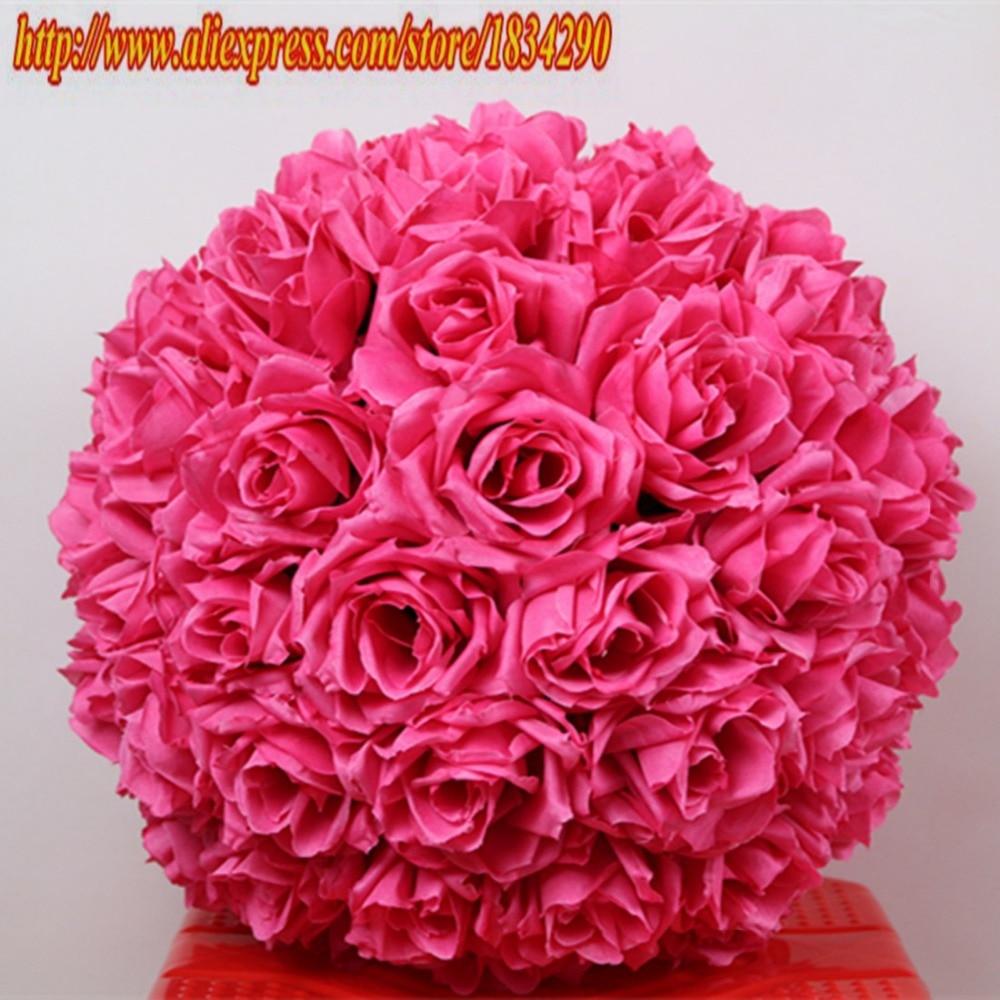 Online buy wholesale fuschia flower from china fuschia flower 50cm2pcslot plumfuschia hanging flower ball centerpieces silk rose wedding kissing dhlflorist Gallery