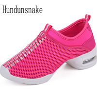Hundunsnake 2017 Jazz Dance Shoes Platform Slipony Women Sneakers Ladies Sport Krasovki Female Gym Gumshoe Chaussure Femme T151