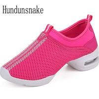 Hundunsnake 2017 Jazz Dance Shoes Platform Slipony Women Sneakers Ladies Sport Krasovki Female Gym Gumshoe Chaussure