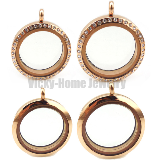 round plated with hdp ag rose diamond diamonds gold set lockets locket pendant a memoirs hot