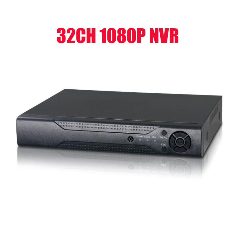 Free shipping H.264 32CH 1080P NVR Security CCTV DVR NVR 1080P Onvif Max 6TB 2* SATA interface dahua 32ch nvr 16 poe 2u case 8 sata 1080p 200mbps gigabit rj45 android ios