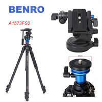BENRO A1573FS2 Professional Video Camera Tripod S2 Photo/Video Head Aluminum Tripod for Photography/DSLR Camera Stand
