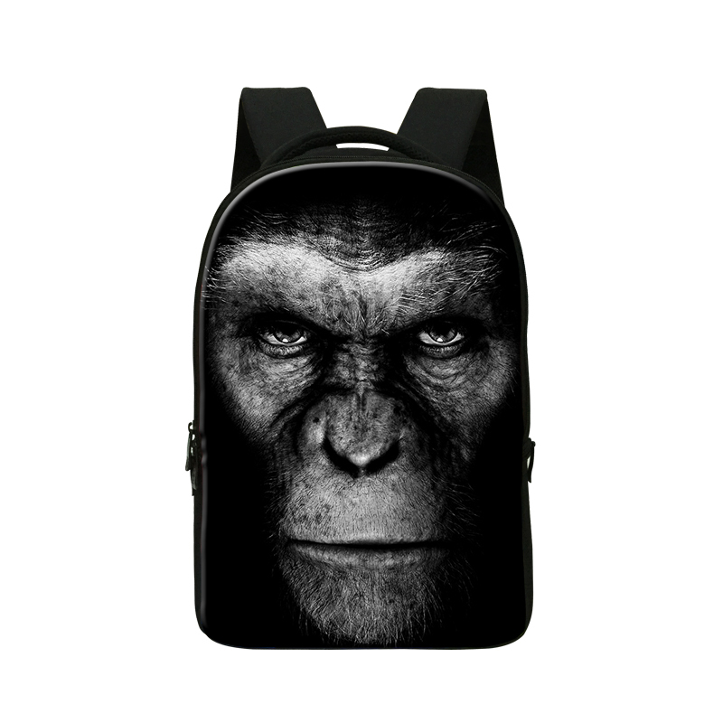 Animal chimpanzee computer bag,3D printing laptop backpack for Notebook 14 '',College School Bookbags,mochila for Youth Boys cute animal print computer backpacks dog laptop back pack for 14 inch boys cat school bookbag college girls mochila book bag
