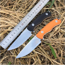 Hot selling!!! Military hunting knife Fixed D2 blade G10 handle  knife outdoor  camping knife Survival 62HRC full With Sheath